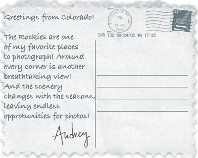 Greetings from Colorado!