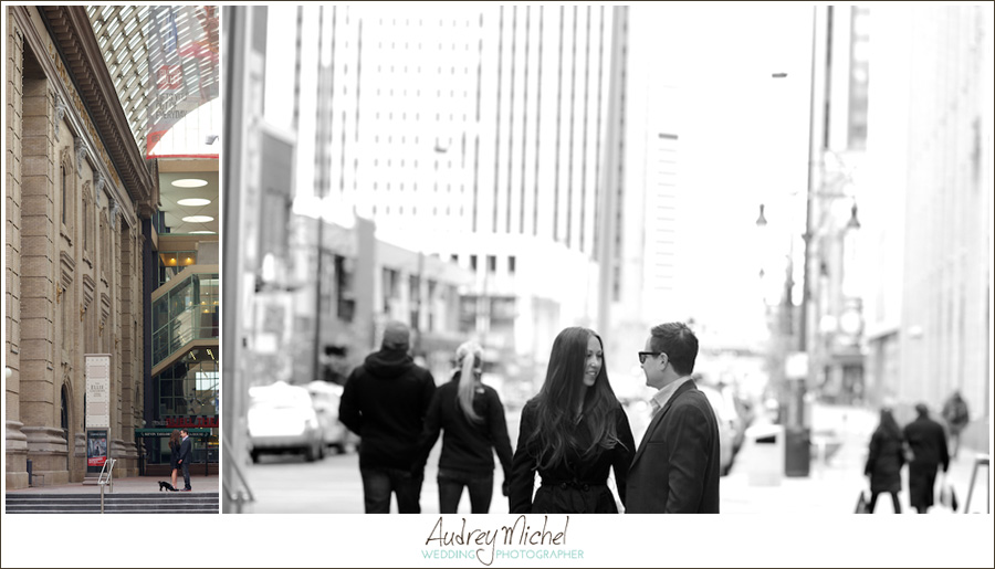 City Chic engagement session in downtown denver