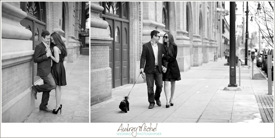 Downtown Denver Engagement, urban engagement photography
