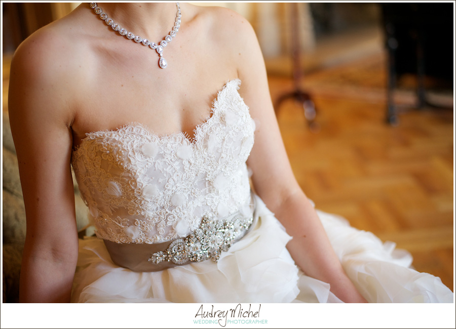 lace beaded wedding gown, Lazaro Dress, belted bridal gown, bridal jewelry, denver wedding photographer