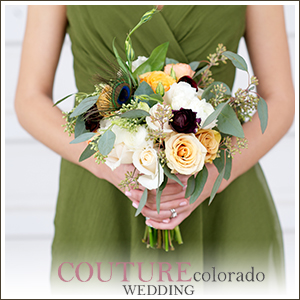 Couture Colorado, Featured, Audrey Michel Photography, Cathedral Wedding, Green and Purple